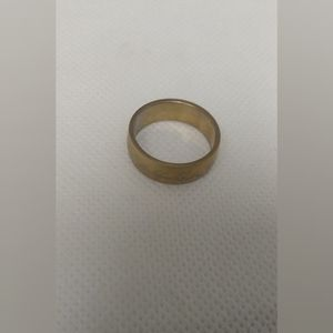 New gold stainless steel ring size 6 and 1/2